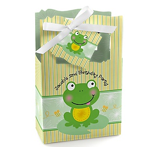 Froggy Frog - Personalized Birthday Party Favor Boxes - Set of 12