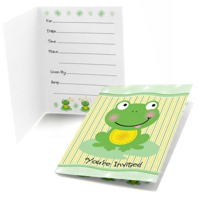 Froggy Frog - Birthday Party Fill In Invitations - 8 ct