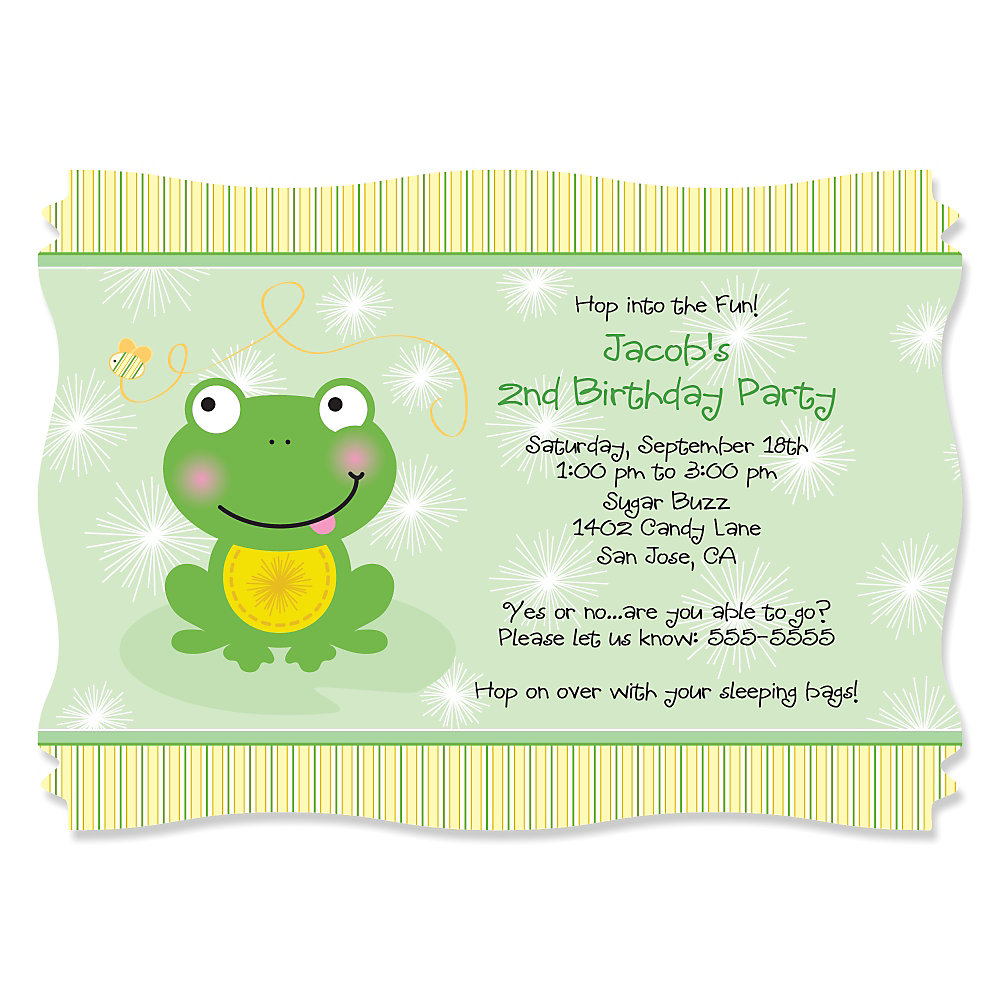 Froggy frog personalized birthday party invitations more views froggy frog personalized birthday party invitations filmwisefo Images
