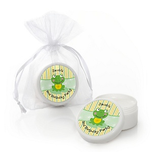 Froggy Frog - Personalized Birthday Party Lip Balm Favors - Set of 12