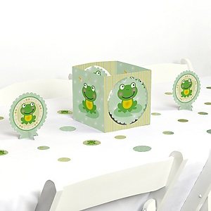 Froggy Frog - Baby Shower or Birthday Party Centerpiece and Table Decoration Kit