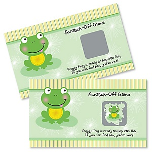 Froggy Frog - Baby Shower or Birthday Party Game Scratch Off Cards - 22 ct