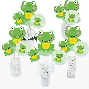 Froggy Frog - Baby Shower or Birthday Party Centerpiece Sticks - Table Toppers - Set of 15