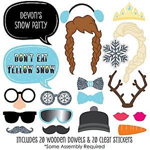 Snow Princess - 20 Piece Photo Booth Props Kit