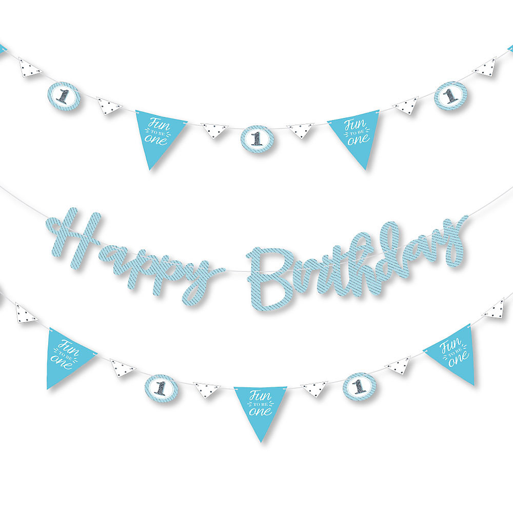 First Birthday Party Letter Banner Decoration Double Tap To Zoom