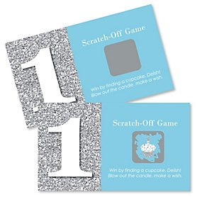 1st Birthday Boy - Fun to be One - First Birthday Party Game Scratch Off Cards - 22 ct
