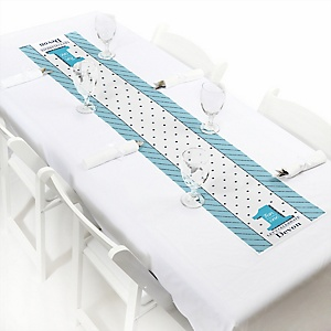 Fun to be One - 1st Birthday Boy - Personalized Birthday Party Petite Table Runner