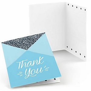Fun to be One - 1st Birthday Boy - Birthday Party Thank You Cards - 8 ct
