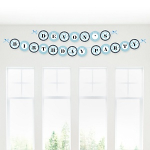 Fun to be One - 1st Birthday Boy - Personalized 1st Birthday Party Garland Banner