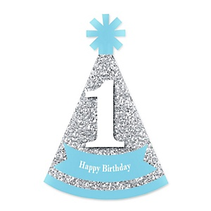 1st Birthday Boy - Fun To Be One - Personalized Mini Cone First Birthday Party Hats - Small Little Party Hats - Set of 10