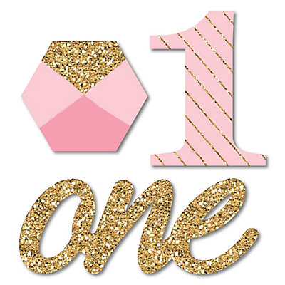 Fun To Be One 1st Birthday Girl Shaped Party Paper Cut