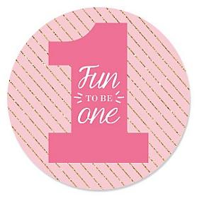 Fun to be One - 1st Birthday Girl - Birthday Party Theme