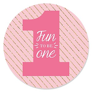 Fun to be One - 1st Birthday Girl - Birthday Party Theme