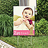 1st Birthday Girl - Fun to be One - Photo Yard Sign - First Birthday Party Decorations