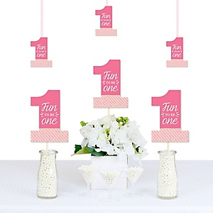 1st Birthday Girl - Fun to be One - Decorations DIY First Birthday Party Essentials - Set of 20