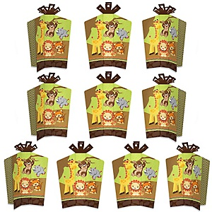 Funfari - Fun Safari Jungle - Table Decorations - Baby Shower or Birthday Party Fold and Flare Centerpieces - 10 Count