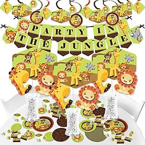 Funfari - Fun Safari Jungle - Baby Shower or Birthday Party Supplies - Banner Decoration Kit - Fundle Bundle