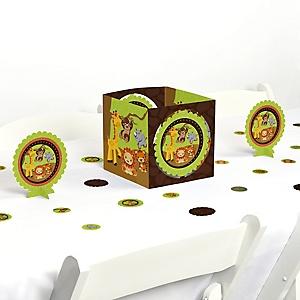 Funfari™ - Fun Safari Jungle - Baby Shower or Birthday Party Centerpiece and Table Decoration Kit