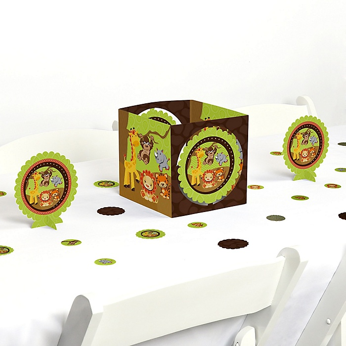 Funfari™ - Fun Safari Jungle - Baby Shower or Birthday Party Centerpiece and Table Decoration Kit
