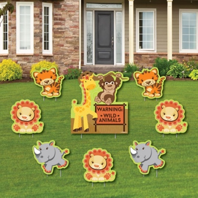Funfari Fun Safari Jungle Baby Shower Theme Bigdotofhappiness Com