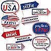 Funny 4th of July - Independence Day 10 Piece Photo Booth Props Kit