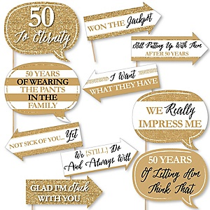 We still do 50th wedding anniversary bigdotofhappiness funny we still do 50th wedding anniversary 10 piece anniversary party photo booth props kit stopboris Choice Image