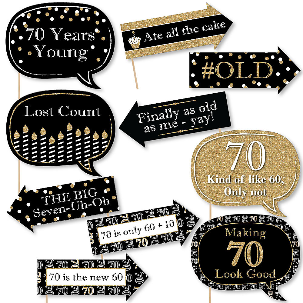 Adult 70th Birthday - Gold - Birthday Party Theme ...
