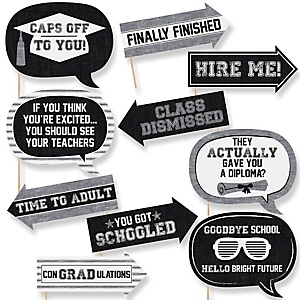 Funny All Star Grad - 10 Piece Graduation Party Photo Booth Props Kit