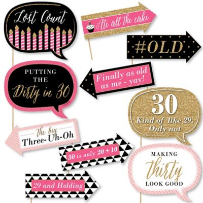 30th Birthday Party Themes Ideas BigDotOfHappinesscom