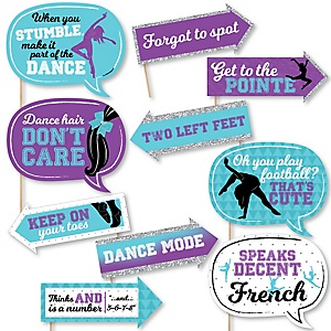 Funny Must Dance to the Beat - Dance - 10 Piece Birthday Party or Dance Party Photo Booth Props Kit