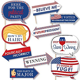 Funny Election - 10 Piece Political Election Party Photo Booth Props Kit