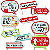Funny Fa La Llama - 10 Piece Christmas and Holiday Party Selfie Photo Booth Props Kit