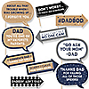 Funny My Dad is Rad - 10 Piece Father's Day Photo Booth Props Kit