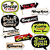 Funny Halloween Monsters - 10 Piece Halloween Party Photo Booth Props Kit