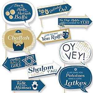 Funny Happy Hanukkah - Chanukah 10 Piece Photo Booth Props Kit