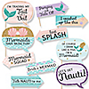 Funny Trading The Tail For A Veil - 10 Piece Mermaid Bachelorette Party or Bridal Shower Photo Booth Props Kit