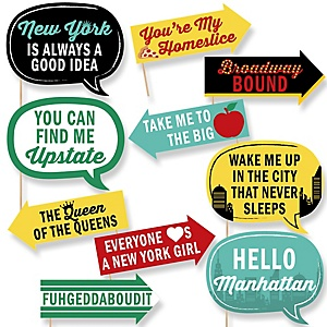 Funny New York - 10 Piece Photo Booth Props Kit