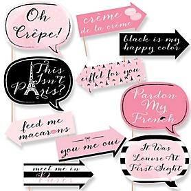 Funny Paris, Ooh La La - 10 Piece Paris Themed Photo Booth Props Kit