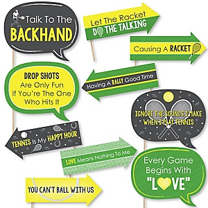Funny You Got Served - Tennis - 10 Piece Baby Shower or Birthday Party Photo Booth Props Kit