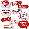 Funny Valentine's Day - Valentine's Day 10 Piece Photo Booth Props Kit