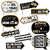 Funny Vegas Before Vows - 10 Piece Las Vegas Bridal Shower or Bachelorette Party Photo Booth Props Kit