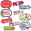 Funny Wild and Ugly Sweater Party - 10 Piece Holiday and Christmas Animals Party Photo Booth Props Kit