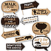 Funny Wild Safari - 10 Piece African Jungle Adventure Birthday Party or Baby Shower Photo Booth Props Kit