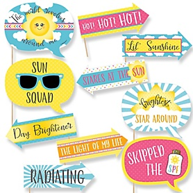 Funny You Are My Sunshine - 10 Piece Baby Shower or Birthday Party Photo Booth Props Kit
