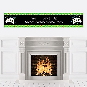 Game Zone - Personalized Pixel Video Game Party or Birthday Party Banner