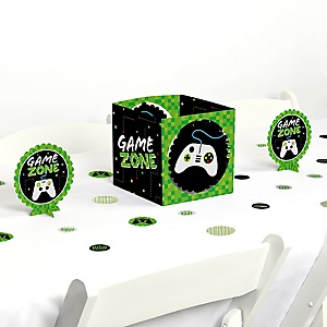 Game Zone - Pixel Video Game Party or Birthday Party Centerpiece & Table Decoration Kit