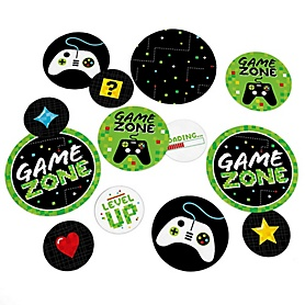 Game Zone - Pixel Video Game Party or Birthday Party Giant Circle Confetti - Party Decorations - Large Confetti 27 Count