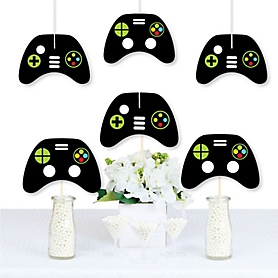 Game Zone - Decorations DIY Pixel Video Game Party or Birthday Party Essentials - Set of 20