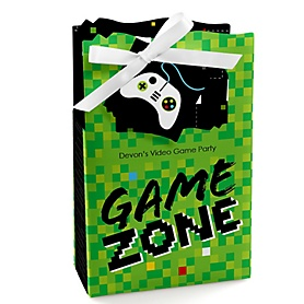 Game Zone - Personalized Pixel Video Game Party Favor Boxes - Set of 12