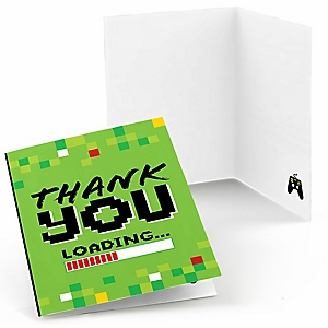 Game Zone - Pixel Video Game Party or Birthday Party Thank You Cards  - 8 ct